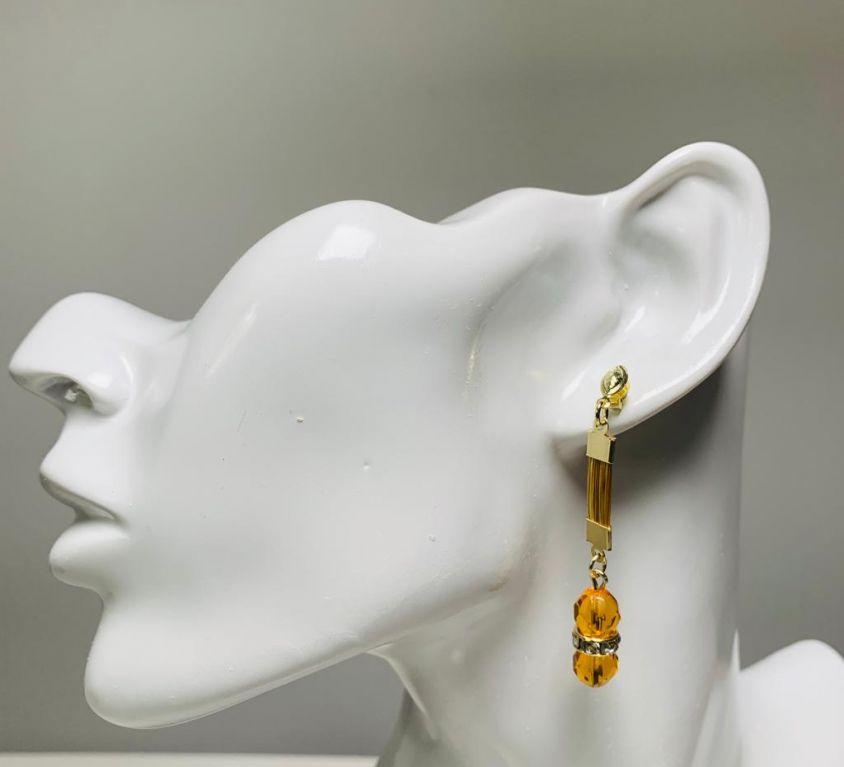 NABOU – Boucles d'oreilles (cristal cuivré)