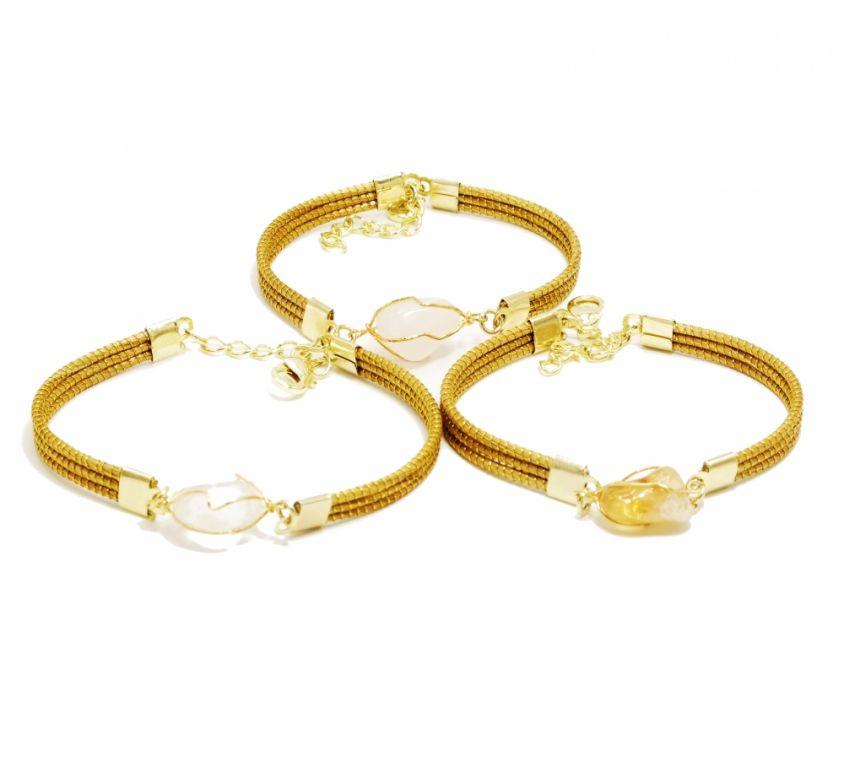 CELESTE – Bracelet avec pierre claire