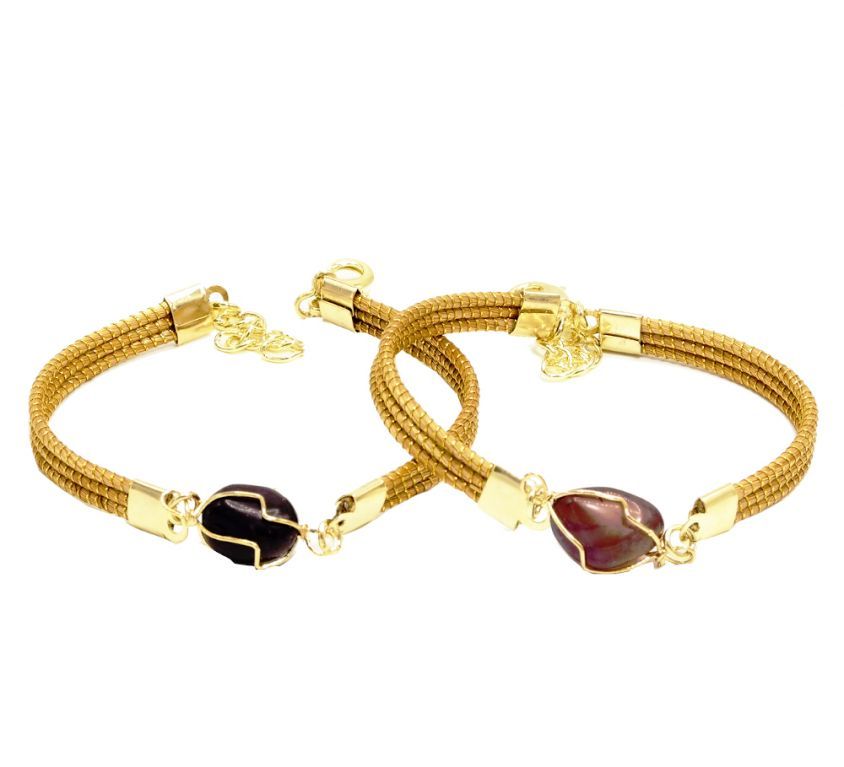 CELESTE – Bracelet avec pierre foncée