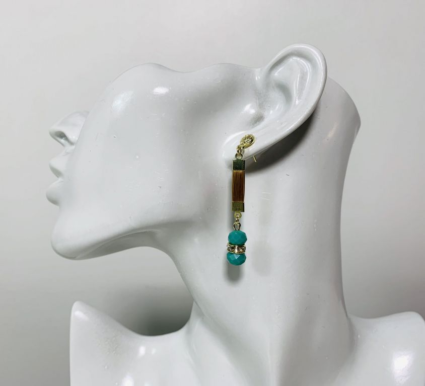 NABOU – Boucles d'oreilles (cristal vert)