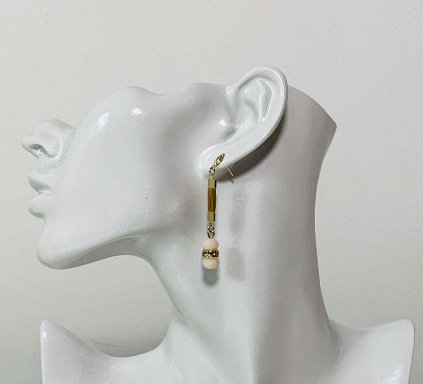 NABOU – Boucles d'oreilles (cristal rose)