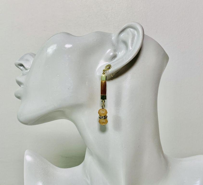NABOU – Boucles d'oreilles (cristal beige)